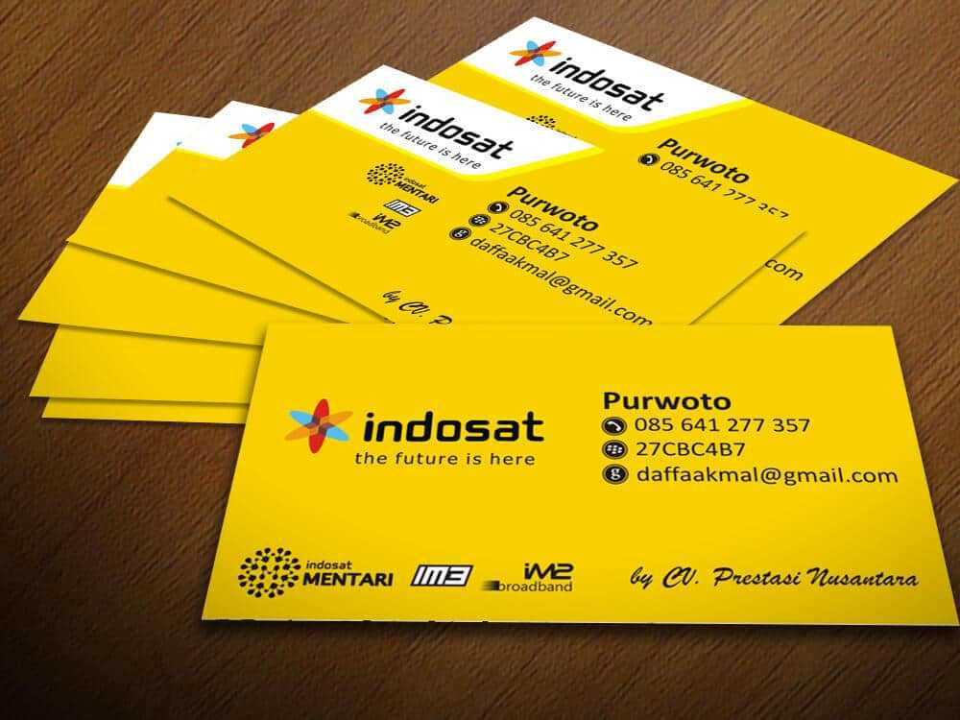 Desain Kartu Nama PN jasa desain logo Jasa Desain Logo desain kartu nama indosat2
