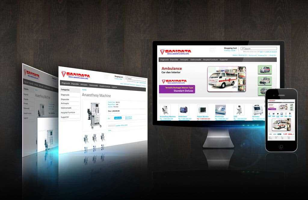 Desain On Line Shop (draft) portfolio Portfolio desain web interface sanidata