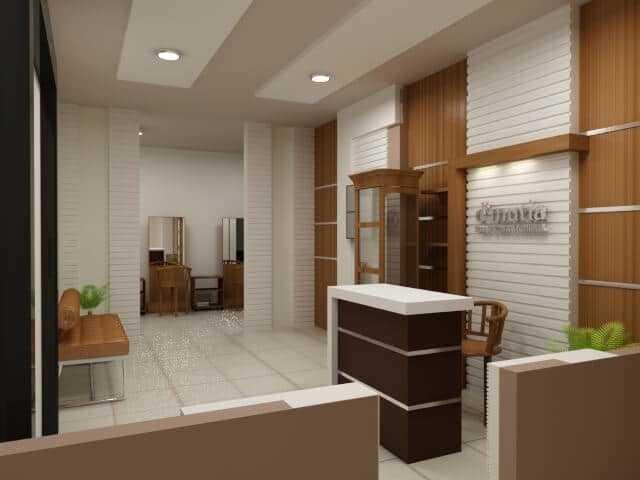 Interior Desain jasa desain logo Jasa Desain Logo desain 3d interior ruang receptionist 2
