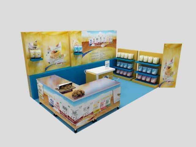 3D Desain Stand Pameran jasa desain logo Jasa Desain Logo desain 3d interior stand pameran 2