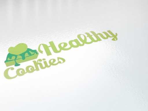 desain logo healthy cookies, desain logo makanan ringan, desain logo cemilan