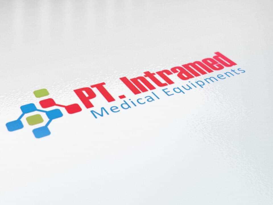 desain logo intramed, desain logo toko alat kesehatan, desain logo kesehatan, desain logo klinik kesehatan, desain logo toko online