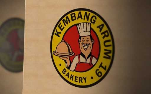 desain logo kembang arum bakery, desain logo resto, desain logo cafe