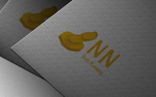 desain logo nn roti kacang, desain logo snack, desain logo cemilan