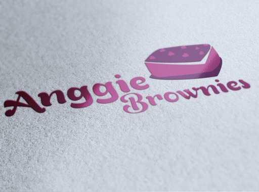 desain logo roti anggie brownies, desain logo toko roti, desain logo roti, desain logo kue, desain logo toko online