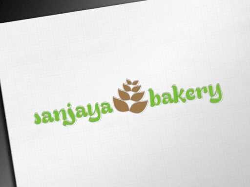 desain logo roti sanjaya bakery, desain logo roti, desain logo toko roti
