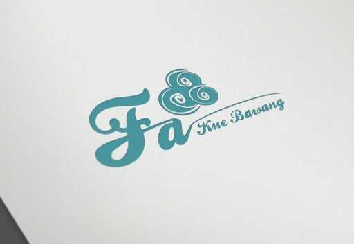 desain logo snack fa kue bawang, desain logo snack, desain logo roti, desain logo kue, desain logo makanan portfolio Portfolio desain logo snack fa kue bawang 512x353