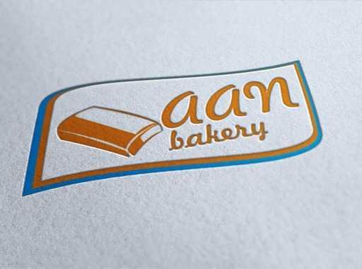 desain logo toko roti aan bakery, desain logo kue, desain logo bakery, desain logo roti