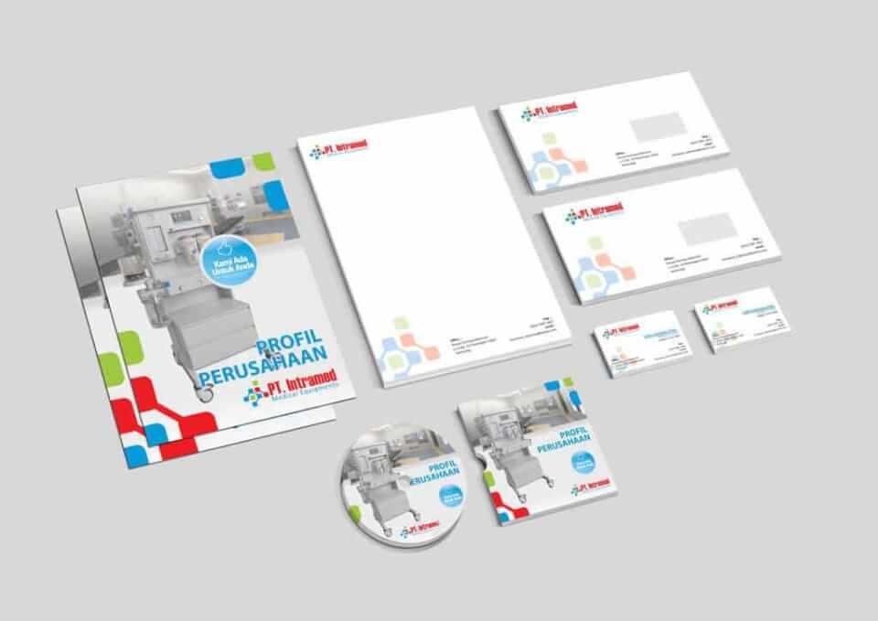 Desain Identity Intramed portfolio Portfolio desain stationary intramed