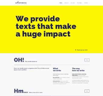 desain web copywriter, desain web penulis