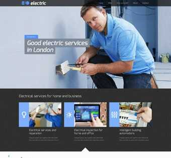 desain web kelistrikan, desain web electric, desain web installasi listrik, desain web kontraktor listrik