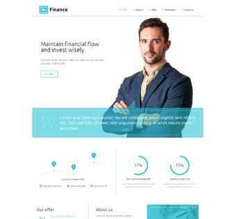 desain web keuangan, desain web finance, desain web company profile