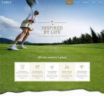 desain web golf, desain web team golf, desain web klub golf, desain web tempat golf