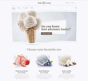desain web resto ice cream, desain web canteen, desainweb cafe, desain web resto