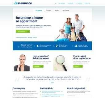 desain web asuransi, desain web penangguhan, desain web jaminan