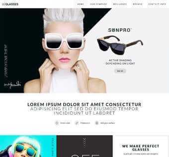 desain web kacamata, desain web toko kacamata, desain web jual kacamata