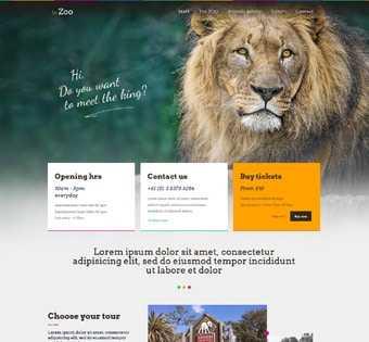 desain web kebun binatang, desain web zoo, desain web taman safari, desain web toko binatang