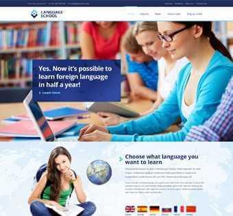 desain web kursus bahasa, desain web tempat kursus