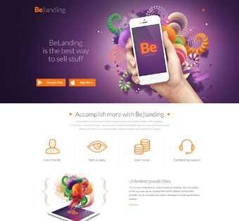 desain web landing page, desain web pemasaran