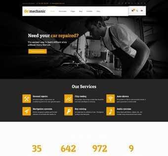 desain web mechanic, desain web bengkel, desain web bengkel mobil, desain web bengkel motor, desain web service