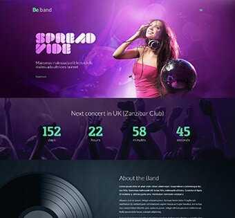 desain web musik, desain web group band, desain web company profile, desain web promosi, web design