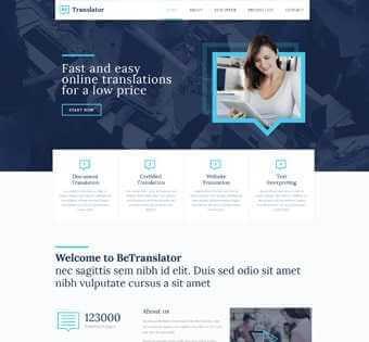 desain web penerjemah, desain web translater