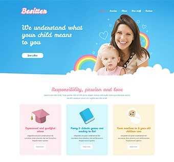 desain web pengasuh bayi, desain web baby sitter, desain web assistant rumah tangga
