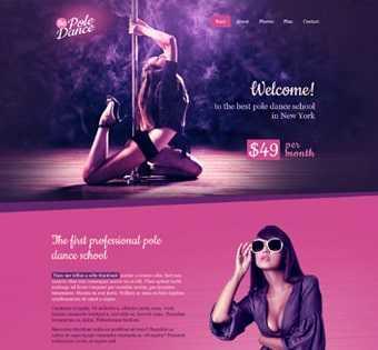 desain web penari, desain web kesenian, desain web pole