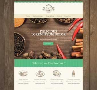 desain web resep, desain web masakan, desain web kuliner, desain web resep masakan