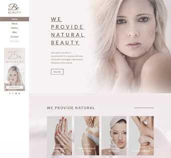 desain web salon kecantikan, desain web perawatan kulit, desain web skin care