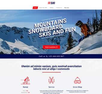 desain web ski, desain web alat ski, desain web toko olah raga