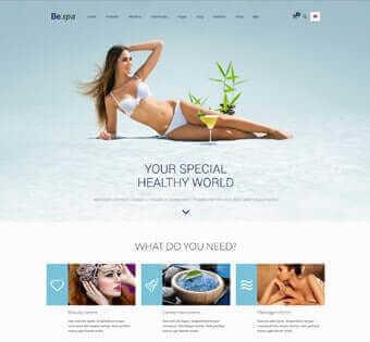 desain web spa, desain web massage, desain web kecantikan, desain web perawatan tubuh