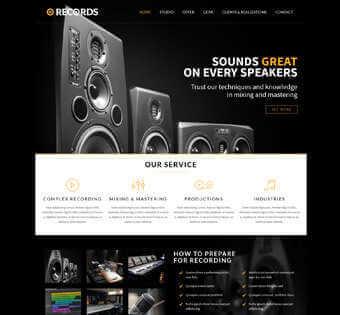 desain web studio rekaman, desain web produser musik, desain web musik, desain web group band contoh web desain Contoh Web Desain desain web studio rekaman