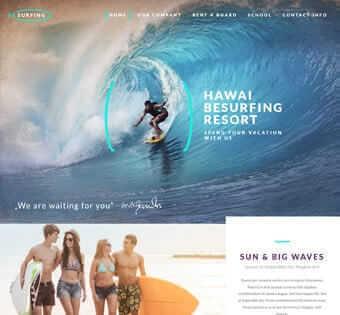 desain web surfing, desain web wisata pantai, desain web touring, desain web hotel contoh web desain Contoh Web Desain desain web surfing