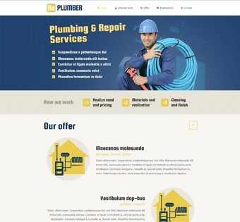 desain web tukang ledeng, desain web perbaikan, desain web plumber, desain web buat sumur